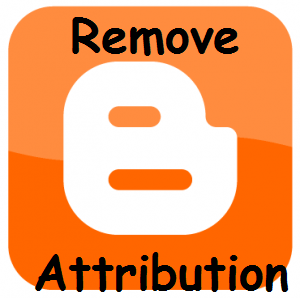 How To Remove Attribution Widget From Blogger