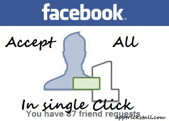 Accept All Friend Request On Facebook In single Click