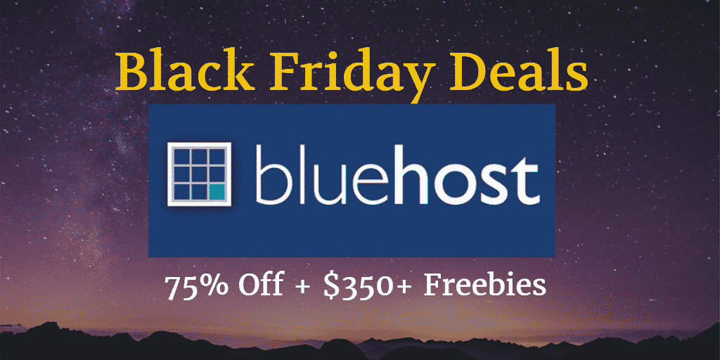 Bluehost Black Friday deals sale