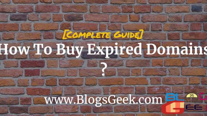How To Buy Expired Domains ? [ Complete Guide On Expired Domains ]