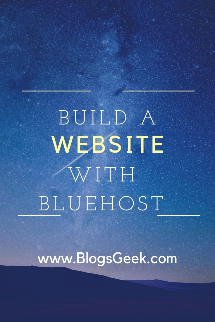 start website with bluehost hosting