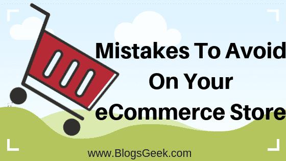 eCommerce Mistake