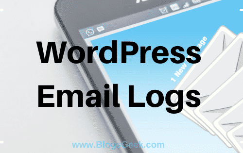 WordPress Email Logs