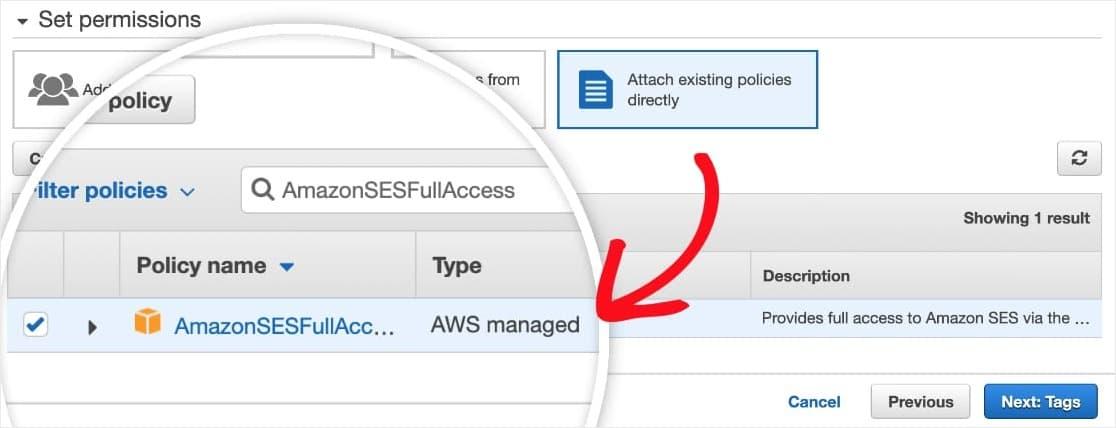 configure IAM settings