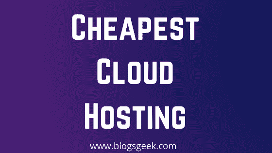 cheapest cloud hosting