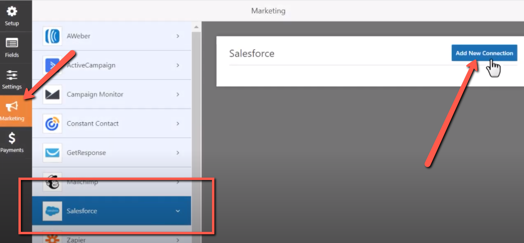 connecting salesforce