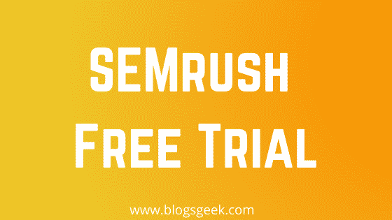 get semrush free trial