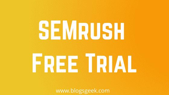 get semrush free trial