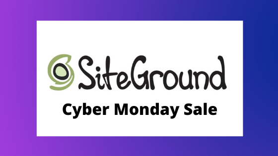 siteground cyber monday 2020