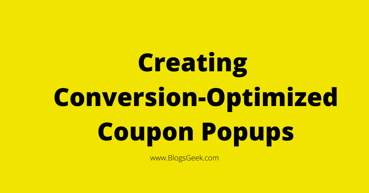 create coupon popups