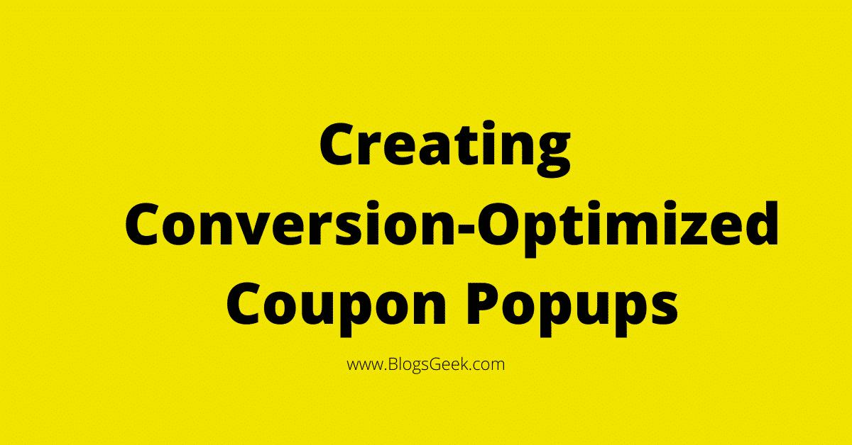 create coupon popups
