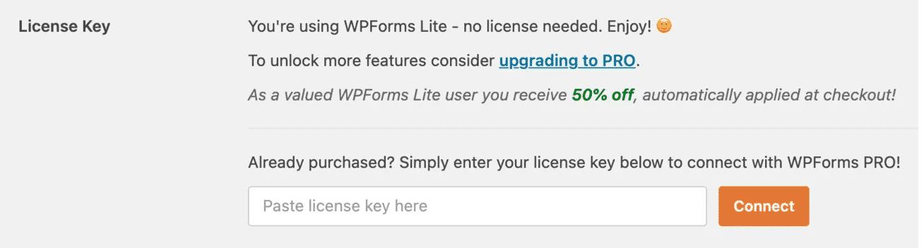 Activating WPForms