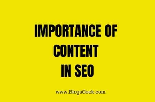 content importance in SEO