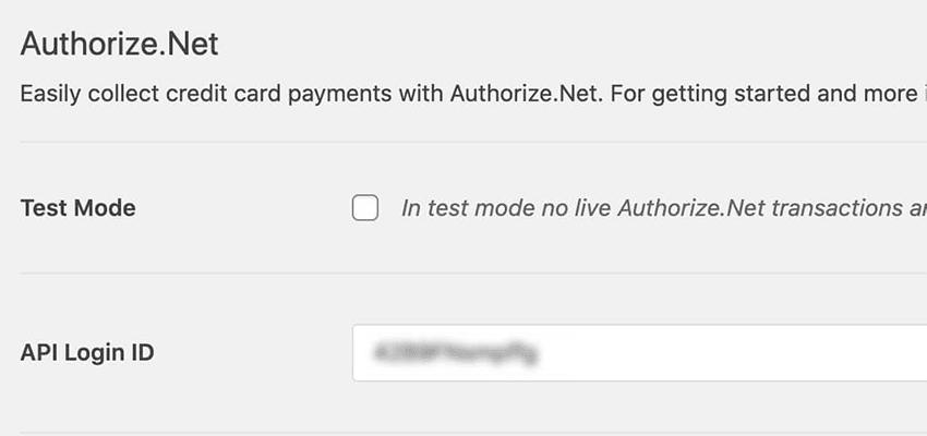 Cole o ID de login da API em WPForms