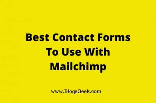 contact forms for mailchimp