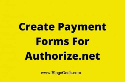 create payment forms Authorize.net
